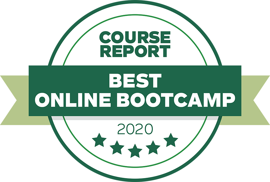 Course Report list of 35 Best Online Bootcamps of 2020