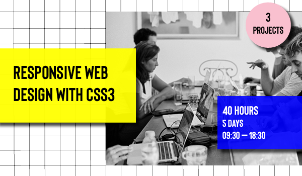 Responsive Web Design with CSS3 course at Barcelona Code School
